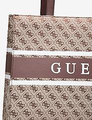 GUESS - MONIQUE TOTE - shoppingväskor - brown - 3