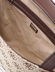 GUESS - MONIQUE TOTE - shoppingväskor - brown - 4