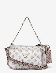 ARIE DOUBLE POUCH CROSSBODY - WHITE MULTI