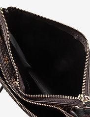 GUESS - NAYA DOUBLE ZIP CROSSBODY - sacs à bandoulière - brown/black - 4
