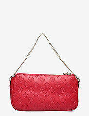 GUESS - DAYANE DOUBLE POUCH CROSSBODY - axelremsväskor - red - 1