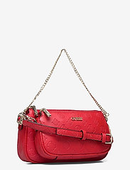 GUESS - DAYANE DOUBLE POUCH CROSSBODY - axelremsväskor - red - 2