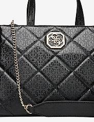 GUESS - DILLA ELITE SOCIETY SATCHEL - handväskor - black - 3