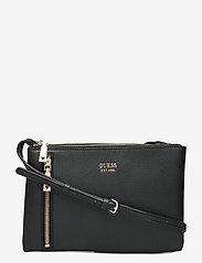 GUESS - NAYA DOUBLE ZIP CROSSBODY - crossbody bags - black - 0