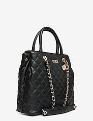 GUESS - ILLY SOCIETY SATCHEL - handväskor - black - 2