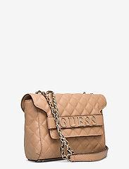 GUESS - ILLY CONVERTIBE CROSSBODY FLAP - crossbody bags - beige - 2
