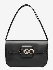GUESS - HENSELY CNVRTBLE SHOULDER BAG - handväskor - black - 0