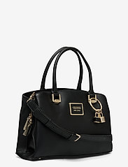 GUESS - TYREN GIRLFRIEND SATCHEL - handväskor - black - 2