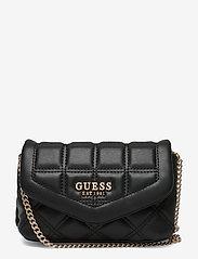 GUESS - KAMINA CNVRTBL XBODY BELT BAG - crossbody bags - black - 0