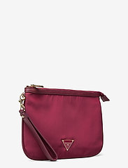 GUESS - DID I SAY 90S? FLAT TOP ZIP - clutches - burgundy - 2