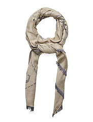 GUESS VINTAGE SCARF 78X180 - NAVY
