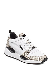 TALLYN/ACTIVE LADY/LEATHER LIK - WHITE & BLACK