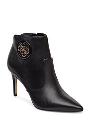 BYRNE/STIVALETTO (BOOTIE)/LEAT - BLACK