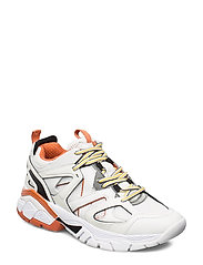 MARLES/ACTIVE LADY/LEATHER LIK - WHITE ORANGE