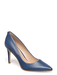 ENNIE2/DECOLLETE (PUMP)/LEATH - MEDIUM BLUE