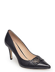 STELL/DECOLLETE (PUMP)/LEATHE - BLACK