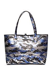 OBBI INSIDE OUT TOTE - BLUE CAMO/BLACK