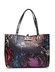 BOBBI INSIDE OUT TOTE - BLACK FLORAL TOMA