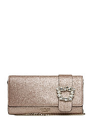 STARRY NIGHT FLAP CLUTCH - ROSE GOLD