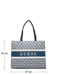 GUESS - MONIQUE TOTE - shoppingväskor - blue - 5