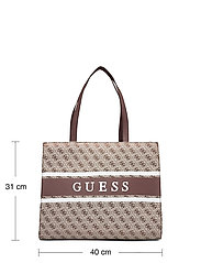 GUESS - MONIQUE TOTE - shoppingväskor - brown - 5