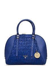 LADY LUXE DOME SATCHEL - BLUE MULTI