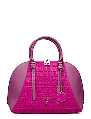 LADY LUXE DOME SATCHEL - FUCHSIA MULTI