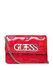 GUESS CHIC MINI CROSSBODY FLAP - RED