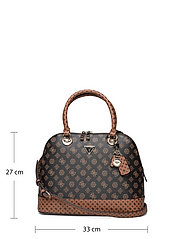 GUESS - CESSILY DOME SATCHEL - handväskor - mocha multi - 5
