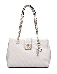 LOGO CITY LUXURY SATCHEL - MOONSTONE