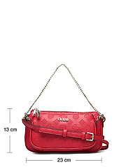 GUESS - DAYANE DOUBLE POUCH CROSSBODY - axelremsväskor - red - 5