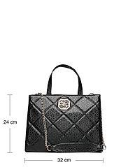 GUESS - DILLA ELITE SOCIETY SATCHEL - handväskor - black - 5