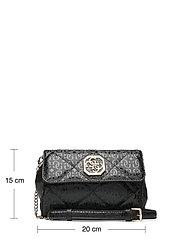 GUESS - DILLA CNVRTBLE XBODY BELT BAG - crossbody bags - black - 5