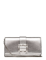 UMMER NIGHT CITY FLAP CLUTCH - SILVER