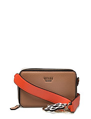 ANIA MINI CROSSBODY TOP ZIP - TAN MULTI