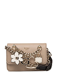 ADLEY MINI CROSSBODY FLAP - TAUPE MULTI