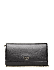 STARRY NIGHT FLAP CLUTCH - BLACK