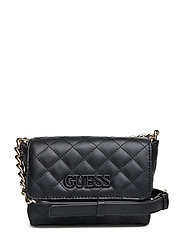 ELLIANA MINI CROSSBODY FLAP - BLACK