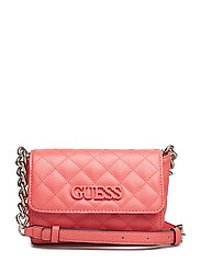 ELLIANA MINI CROSSBODY FLAP - CORAL