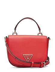 CARYS MINI TOP HANDLE FLAP - RED