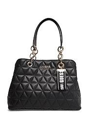 Laiken Girlfriend Satchel Bags Top Handle Bags Svart GUESS