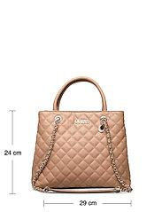GUESS - ILLY SOCIETY SATCHEL - handväskor - beige - 5