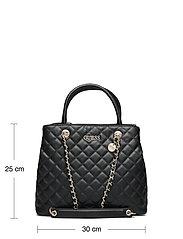 GUESS - ILLY SOCIETY SATCHEL - handväskor - black - 5