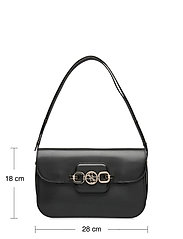GUESS - HENSELY CNVRTBLE SHOULDER BAG - handväskor - black - 5