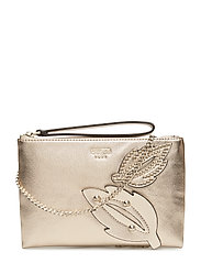 FALL IN LOVE CROSSBODY CLUTCH - GOLD
