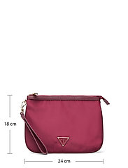 GUESS - DID I SAY 90S? FLAT TOP ZIP - clutches - burgundy - 5