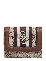 GUESS VINTAGE SLG SML TRIFOLD - BROWN
