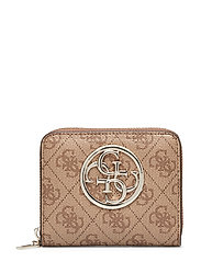 Bluebelle Slg Small Zip Around Bags Card Holders & Wallets Wallets Beige GUESS