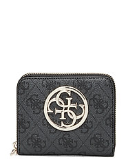 Bluebelle Slg Small Zip Around Bags Card Holders & Wallets Wallets Svart GUESS