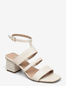 MALIN2/SANDALO (SANDAL)/LEATHE - højhælede sandaler - ivory
